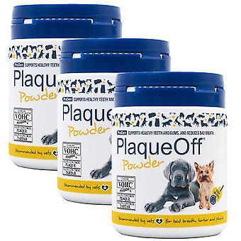 3 x 60g Plaque Off Animal Pets Dental Oral Teeth Gums Breath Care Powder