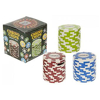 Money Boxes Piggy Bank Coin Jar Children's Money Saving Toy- Casino Chips - Assorted
