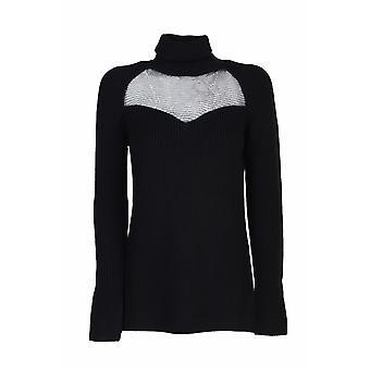 Elisabetta Franchi Mk60s06e2110 Women's Black Wool Sweater