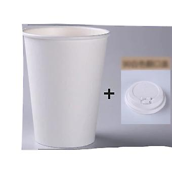 Disposable White Paper Coffee Cups With Lid