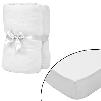 vidaXL stretch bed sheets cot 4 pcs. 40 x 80 cm cotton jersey white
