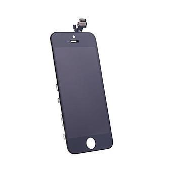 AAA + erstatning Retina LCD berøringsskjerm digitizer glasspanel ramme montering for iPhone 5