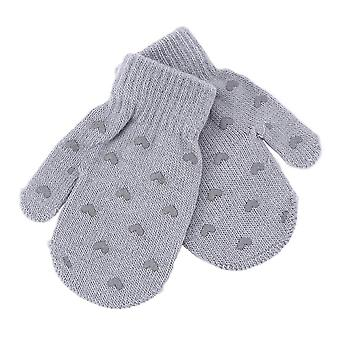 Fashion Kid Mittens Winter Knitted Gloves For Dot Star Heart Pattern Fingerling