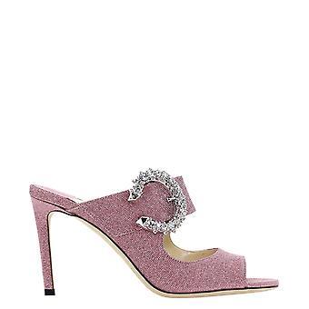Jimmy Choo Saf85xgspink Kvinder's Pink Fabric Sandaler