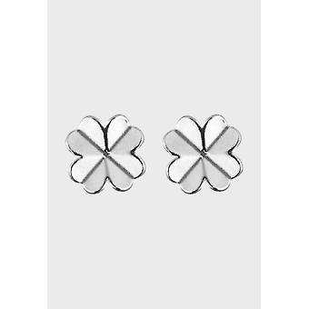 Brincos kalevala feminino de quatro folhas prata 2669180T