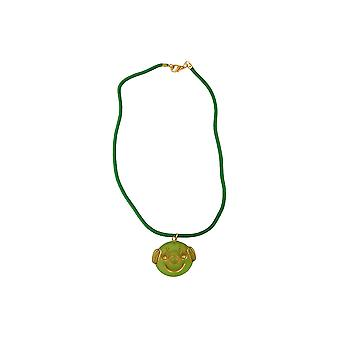 Necklace Clown Green Matte Polished