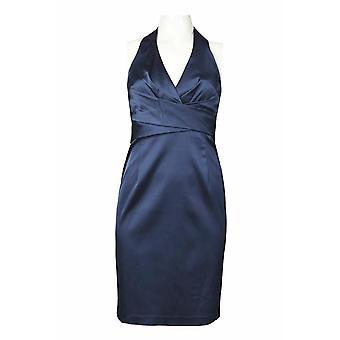 שמלת נדן סאטן עם שתי וערב