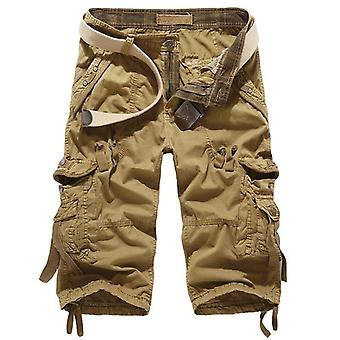 Cargo Shorts, Mannen Casual Workout Militaire Multi-pocket Kalf-lengte Broek