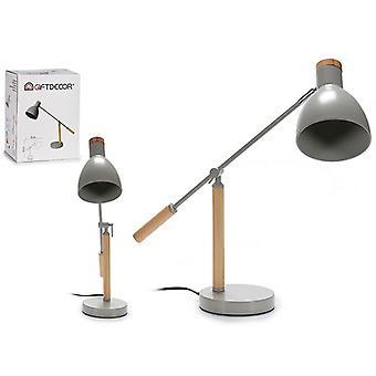Flexo/Desk lamp Grey Wood Crystal (15 x 52 x 59 cm)