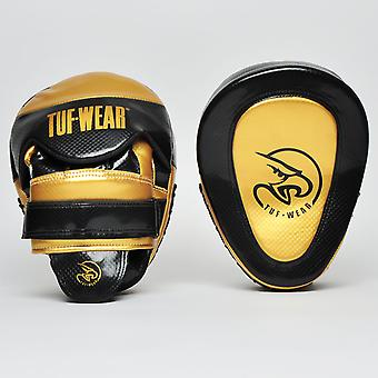 Tuf Wear Victor Gel Curved Hook & Jab Pad Black / Gold