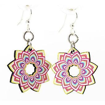 Earings de design de flores mandala