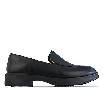 Women's Fit Flop Talia Läder loafers i svart
