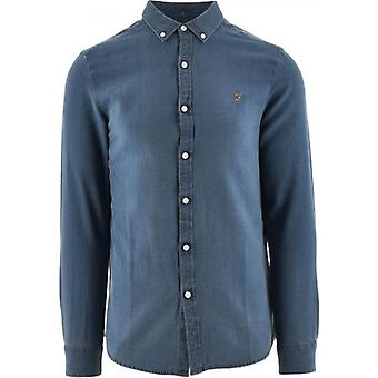 Farah Blue Brewer Indigo Shirt