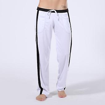 Thermal High-end Men Cotton Sleep Bottoms Nighty Trousers Casual Loosen Plaid