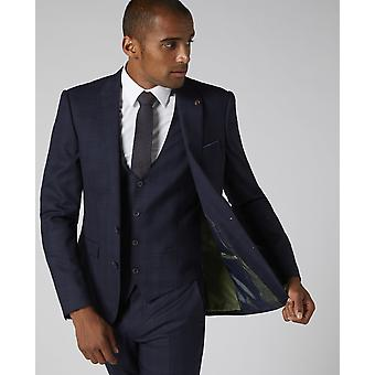 Lanito Navy Check Suit Jacket