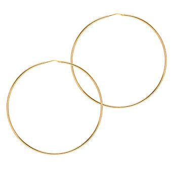 The Hoop Station Chica Latina Gold Plated 85 Mm Hoop Earrings H226Y