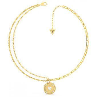 FRA GÆT med kærlighed Gæt smykker - Guld stål halskæde og Swarovski krystaller