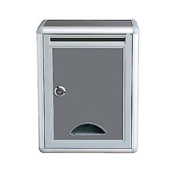 Buzón con cerradura fuera de la caja de cartas montada en la valla para carta / periódico / revista