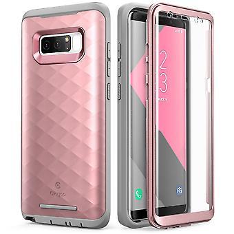 Galaxy Note 8 Case, Clayco Hera Series Full-body Rugged Case-RoseGold