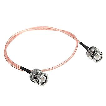 BNC Male plug to BNC Male Plug RG316 Pigtail RF Jumper Cable 1.6ft For Wireless