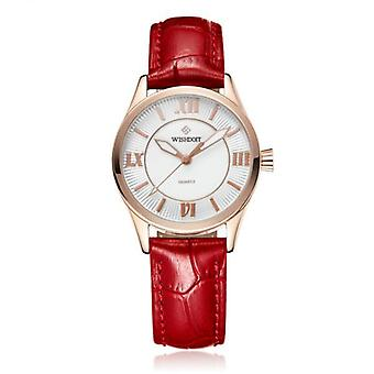 WISHDOIT 005 Moda Damska kwarcowa zegarek Roman Cyfrals Flower Iron Tower Wrist