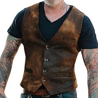 YANGFAN Men's Four Button Casual Vest