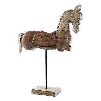 Decoratief Figuur Dekodonia Horse Mango hout Naturel (42 x 12 x 54 cm)