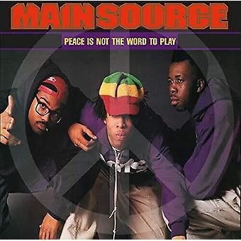 Main Source - Peace Is Not The Word To Play (Remix) / Peace Is [Vinyl] USA import