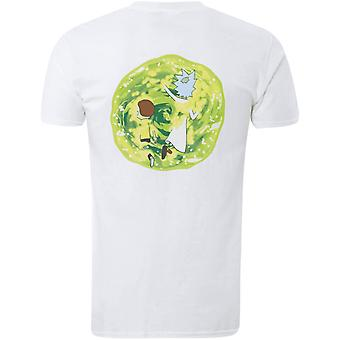 Rick y Morty adultos Unisex adultos Portal Back Print camiseta