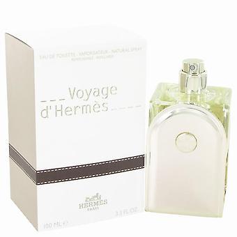 Voyage D'hermes Eau De Toilette Spray Refillable By Hermes 3.3 oz Eau De Toilette Spray Refillable