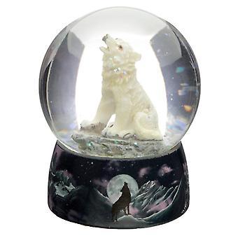 Rêves décoratifs du protecteur de vent du globe de neige de loup du nord