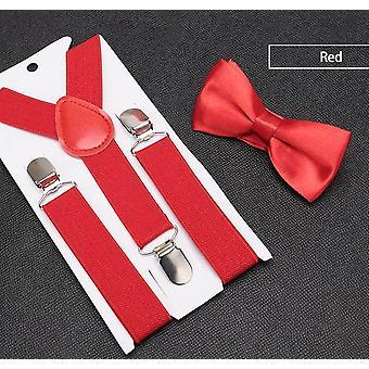 Kids Retro Suspenders Bow Tie Set