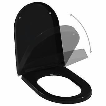 vidaXL toilet seat with automatic downsing and quick release black