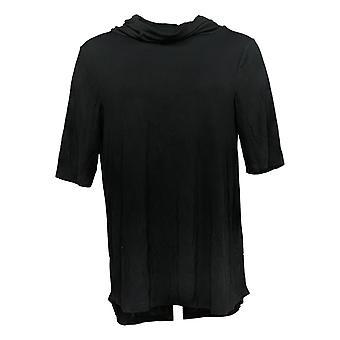 Cuddl Duds Women's Top Softwear Stretch Elbow Sleeve Black A381796