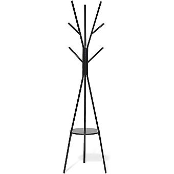 Gerui Coat Stand, Modern Floor Standing Hat and Coat Stand Clothes Rack Entryway Purse Display Hall