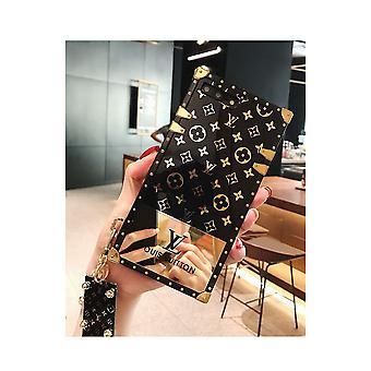 Puhelimen kotelon silmärunko musta ja kultainen iskunkestävä TPU Samsung S9: lle