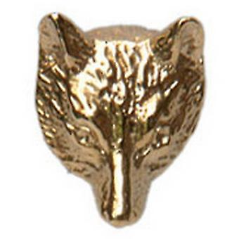 David Van Hagen Fox Head 9ct Gold Tie Tac - Gold