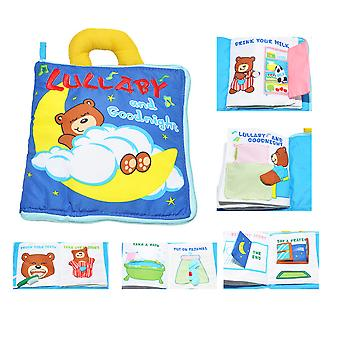 Lullaby And Good Night Educational Fabric Book With Bell Soft Touch Cloth Book