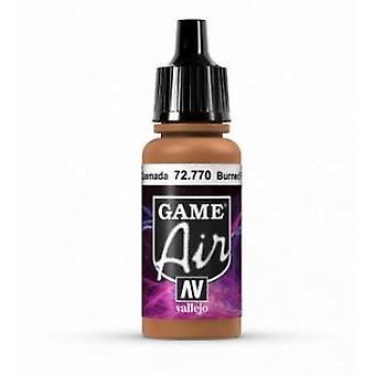 Vallejo Jeu Air 17ml Acrylique Airbrush Paint 72.770 Burned Flesh
