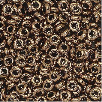 Final Sale - Toho Demi Round Seed Beads, Thin 8/0 (3mm) Size, 7.4 Grams, #221 Bronze
