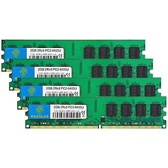 FengChun DDR2 800 PC2-6400 8GB DDR2 Kit (4x2GB) DDR2-800 Udimm 2GB DDR2 Ram 2RX8 1.8V CL6 Non-ECC