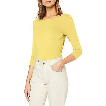 Tom Tailor Boat Neck T-Shirt, Jasmine Yellow, L Woman