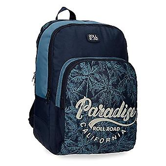 ROLL ROAD Palm School backpack double compartment adaptable to trolley Azzurro 33x44x13.5 cms Polyester 19.6L