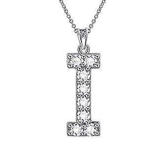 Besilver FP0073A - Letter-shaped pendant necklace of the alphabet, in Sterling Silver 925, with Crystals, with Ref monogram. 8431228533780