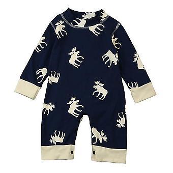 Newborn Baby Long Sleeve Girls Boys Jumpsuit Romper Clothes