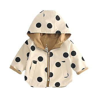 Baby Jacket Spring Zip Hooded Toddler Lightweight Trench Outerwear