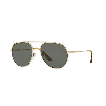 Prada SPR55U ZVN198 Pale Gold/Polarised Green Sunglasses