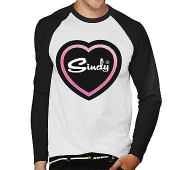 Sindy Pink Love Heart Miesten baseball pitkähihainen t-paita