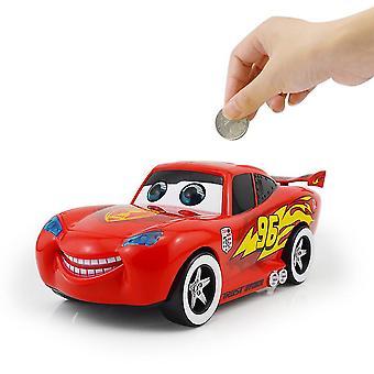 New Cars Lighting Mcqueen Piggy Bank Electric Music Car Story Money Bank ES9362