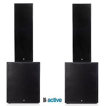 """Big gig rig 37 - active 4000w rms triple 12"""" tops and 18"""" subwoofer pa system with bluetooth"""